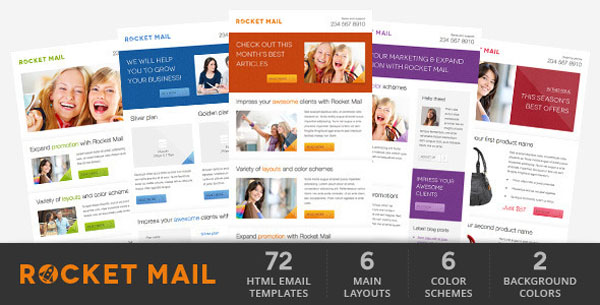 Rocket Mail - Clean & Modern Email Template