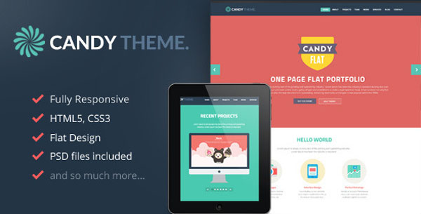Candy - Flat Onepage Responsive HTML5 Template