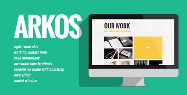 Arkos - Flat and responsive portfolio gallery