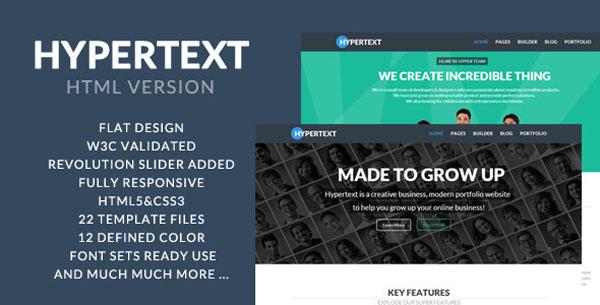Hypertext - Flat Portfolio HTML Template