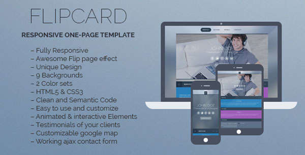 FlipCard - Responsive One-page Template