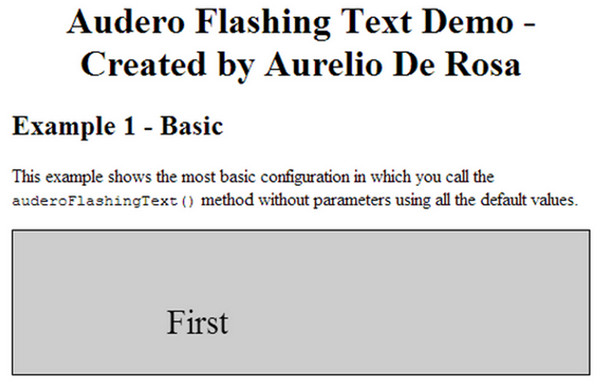 Audero Flashing Text