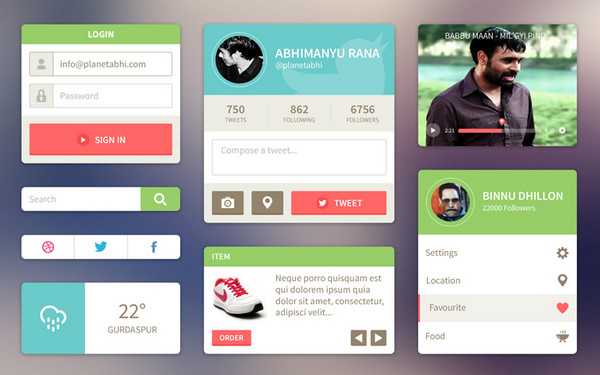 HTML Version of Ui Kit of Abhimanyu Rana