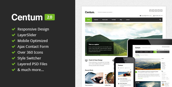 Centum - Responsive HTML Template