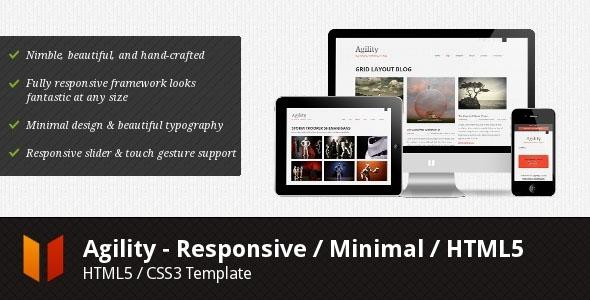 Agility - Responsive / Minimal / HTML5