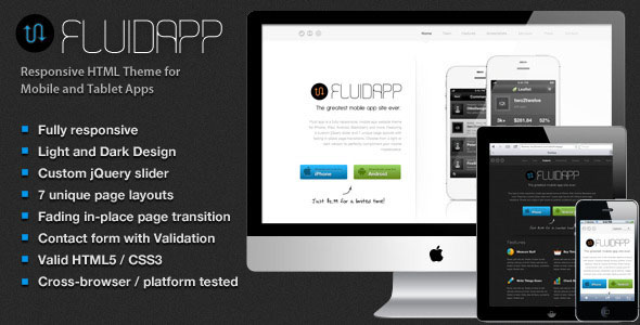 mobile web app html template