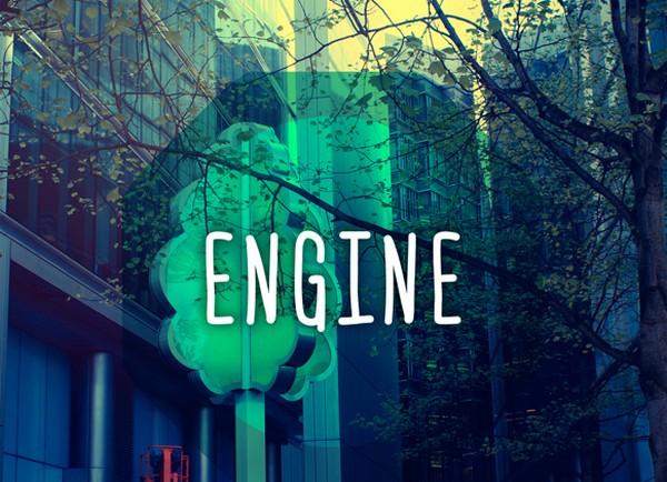 Engine font by Ferdie Balderas