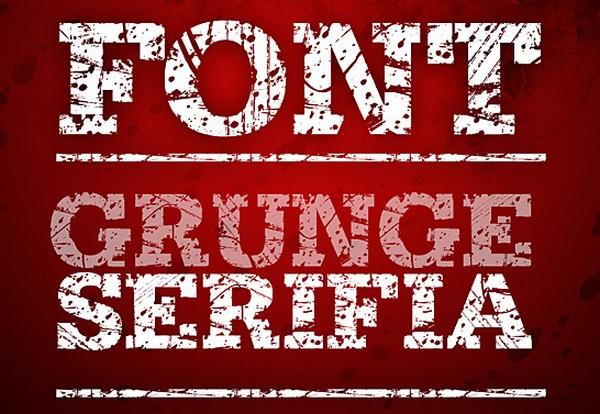 Grunge Serifia Font by jagdeep Singh