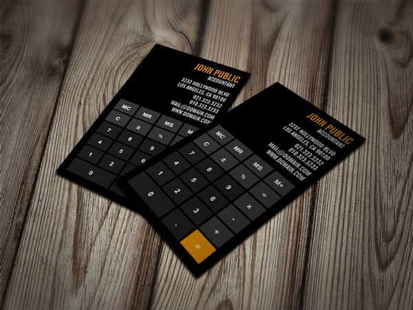 Accountant card