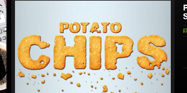 Potato chips layer style