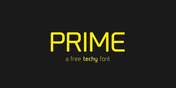 Prime technologic vibe font