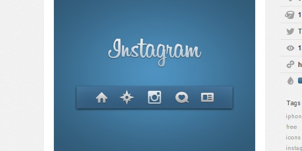 Instagram PSD icons