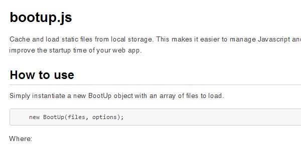 Bootup.js static files load