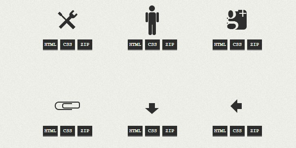 One div HTML/CSS icons