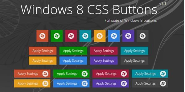 CSS windows 8 metro buttons