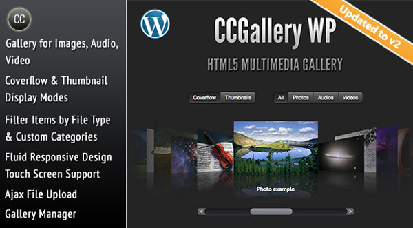 CCGallery WP - Multimedia Gallery WordPress Plugin