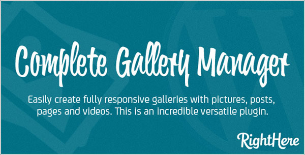 Complete Gallery Manager for WordPress