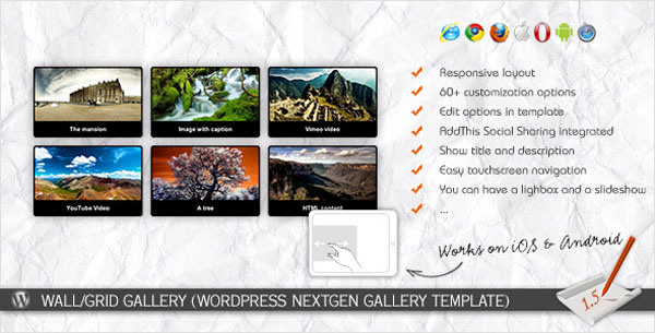 Wall/Grid Gallery (WP NextGEN Gallery Template)