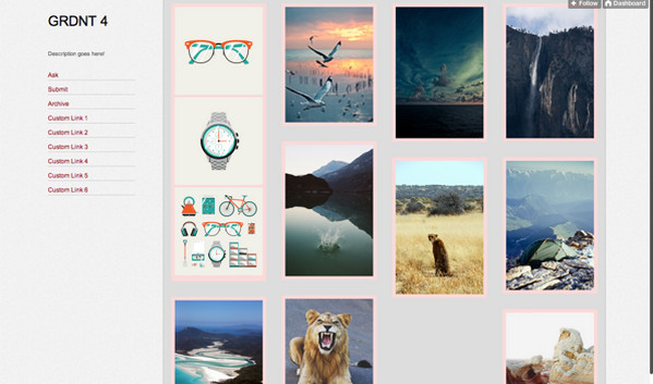Best free tumblr themes to start your blog ewebdesign tumblr theme grdnt by jen yuan pronofoot35fo Gallery