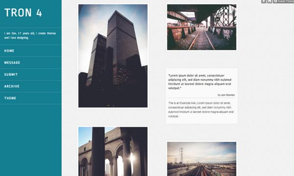 Tumblr Theme Tron by Jen Yuan