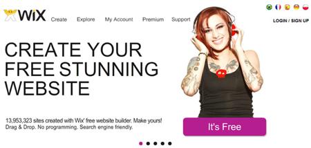 Wix mobile site builder