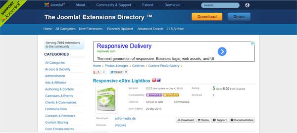 Responsive eXtro Lightbox