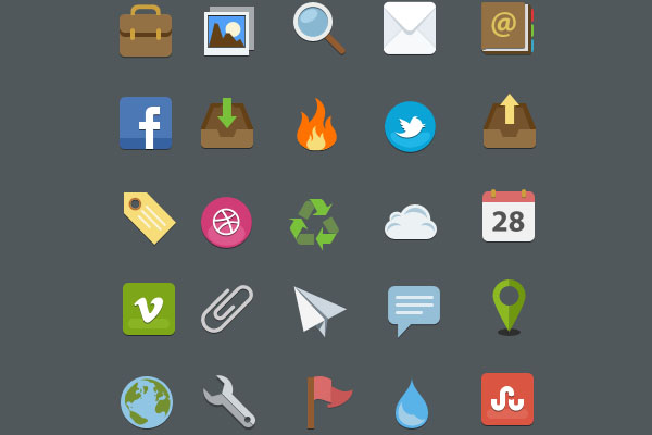 Free Flat style icon pack