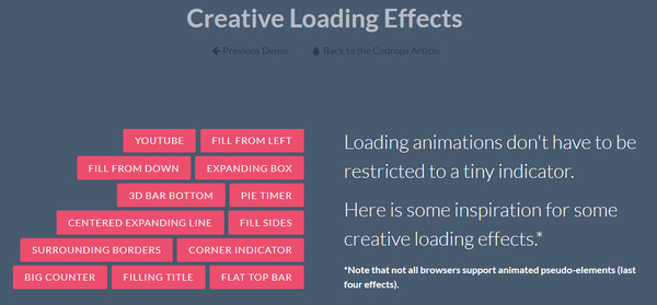 Creative Loading Effects