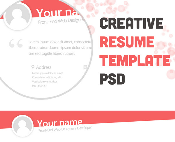 creative resume template - Free Artistic Resume Templates