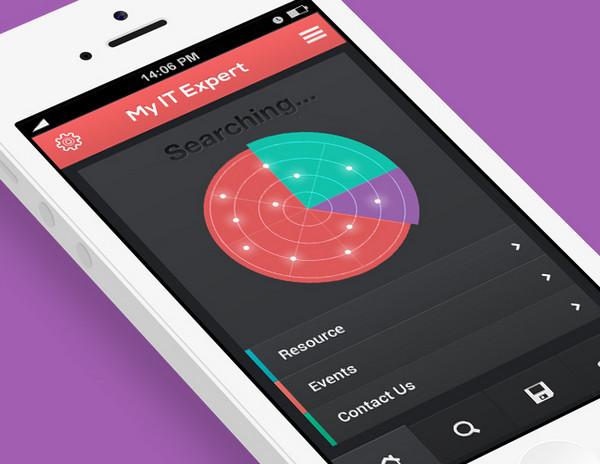 My IT Expert IOS Flat app design by UI Kreative
