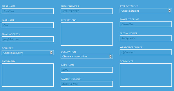 Collection of free htmlcss tools ewebdesign responsive multi column form malvernweather Choice Image