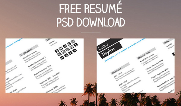 Neat And Engaging Free Resume Templates  Ewebdesign