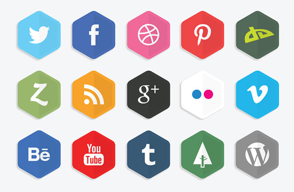 Flat Polygon Icons