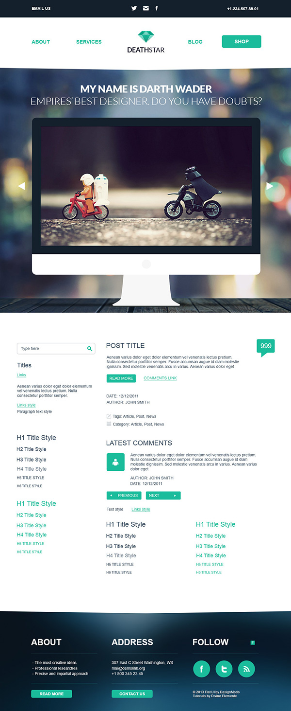 How to create flat wordpress psd theme like a pro ewebdesign for Making a wordpress template