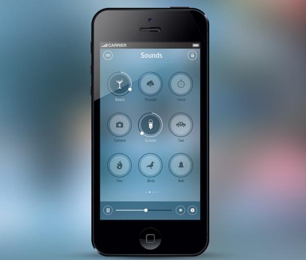 iOS 7 Relax App by Hari Krishnan