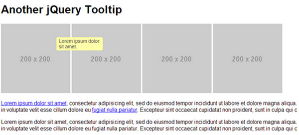 jQuery ToolTip by enure