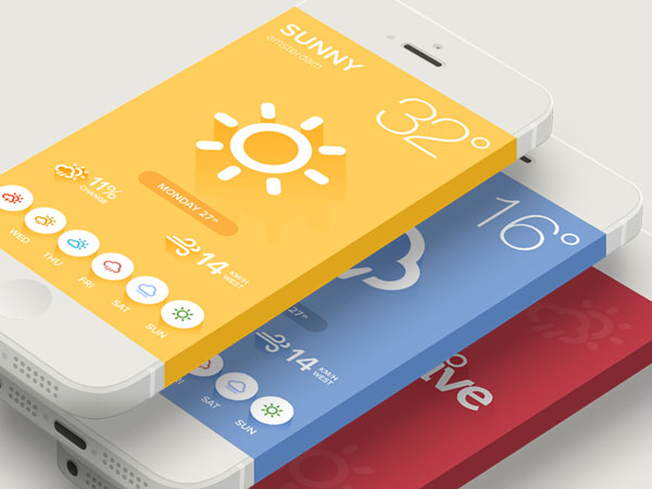 Showcase of flat apps design examples ewebdesign for Application iphone temperature interieur