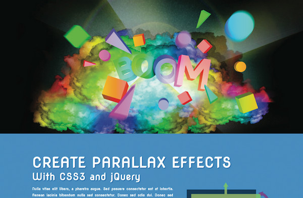 Create interactive parallax scrolling pages