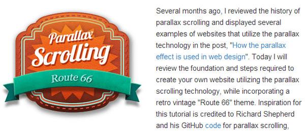 How to implement the parallax scrolling effect
