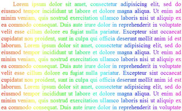 Rainbow Text