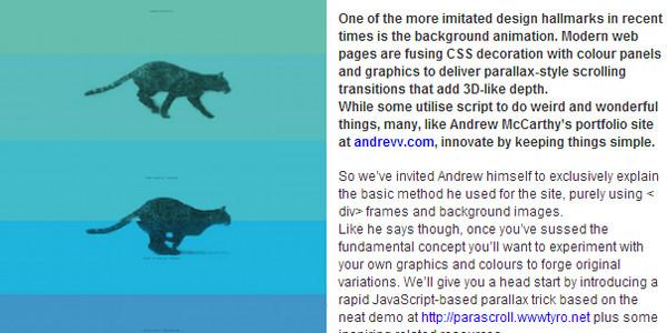 Scrolling background parallax tricks
