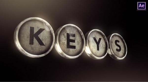 Typewriter Keys Logo