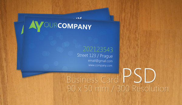 13 good to go free business cards templates ewebdesign blue business card what i like about this one is actually the fact that is very simple and works with every combination of colors reheart Gallery