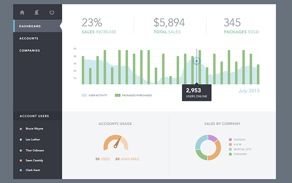 40+ Dashboard User Interfaces For Your Inspiration - eWebDesign