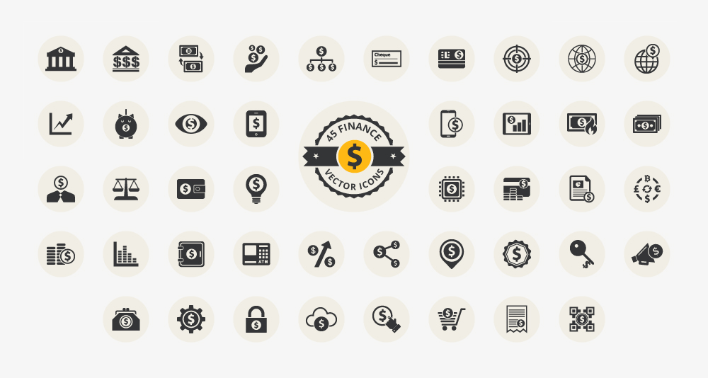 download free finance icons 100 vectors ewebdesign