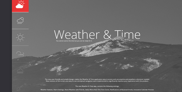 20 Fresh and Beautiful Weather App Concepts – eWebDesign