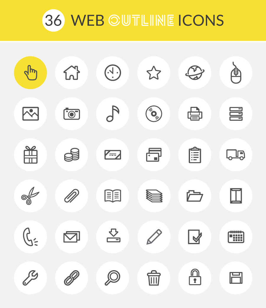 web-outline-icon-set