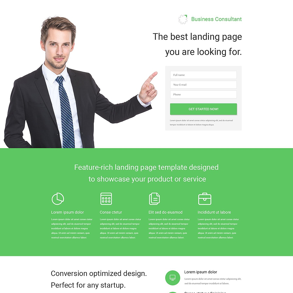 20 best psd website templates to maximize your creative for Consulting website