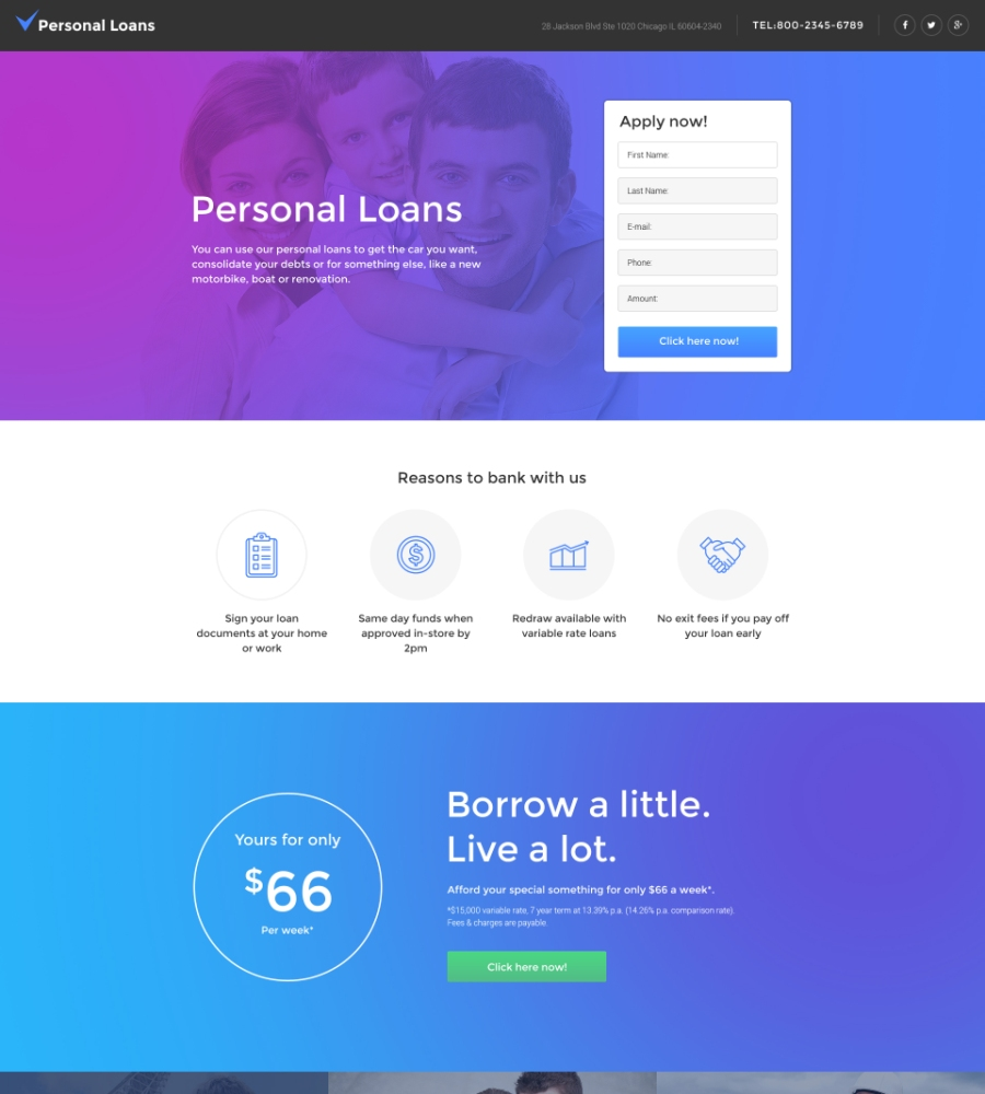 Of The Best Landing Page Templates For EWebDesign - Personal landing page template