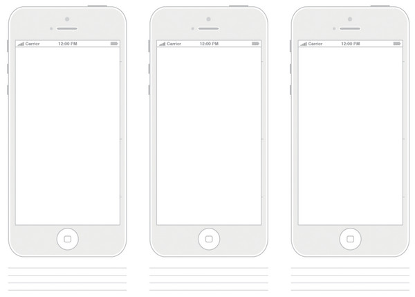 Paper-based Mediums for Designers, Free PDF Templates and Wireframes ...